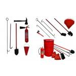 Пожарный инвентарь, инструменты, знаки безопасности