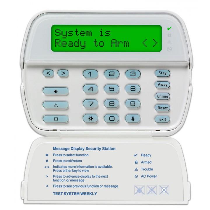 64-зонный ЖК-дисплей с полным сообщением для DSCPowerSeriesPC1616, PC1832, PC1864